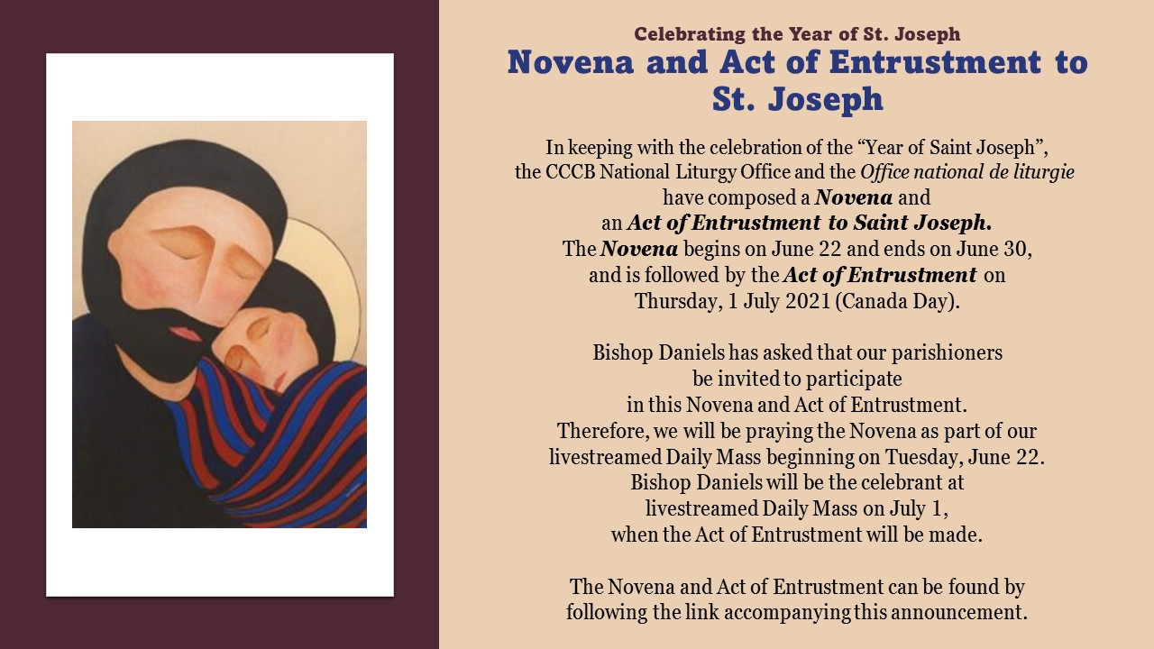 Clicking on photo will open Novena and Act of Entrustment - link will open in a new window